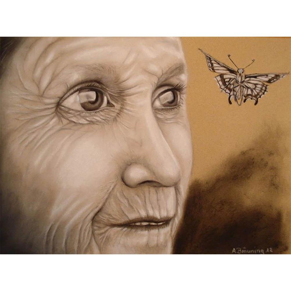 Andrea Bräuning, 40cm x 50cm, Pastellkreide auf Papier